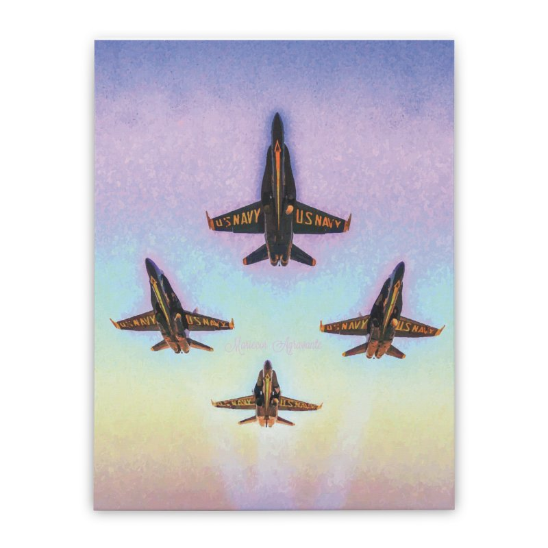 Blue Angels Squadron Home Stretched Canvas by MariecorAgravante's Artist Shop