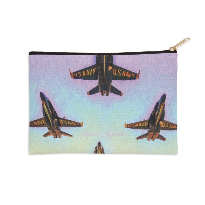Blue Angels Squadron Accessories Zip Pouch by MariecorAgravante's Artist Shop
