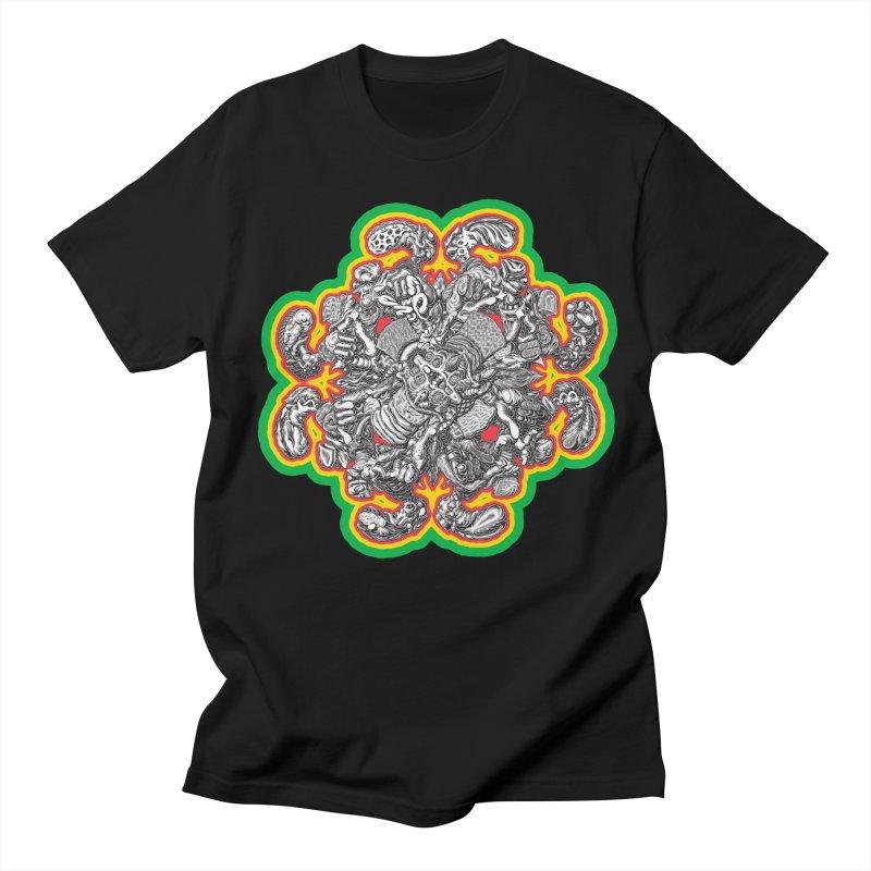 madder hatter in Men's Regular T-Shirt Black by Mark Dean Veca