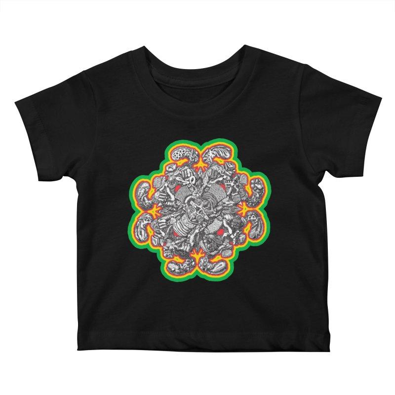 madder hatter Kids Baby T-Shirt by Mark Dean Veca