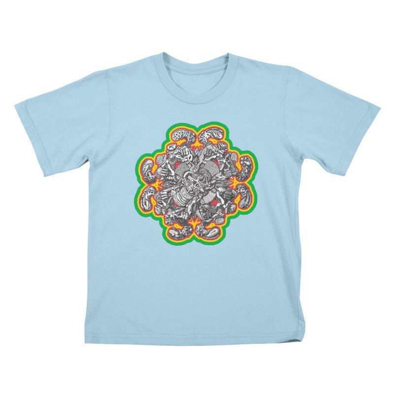 madder hatter Kids T-Shirt by Mark Dean Veca