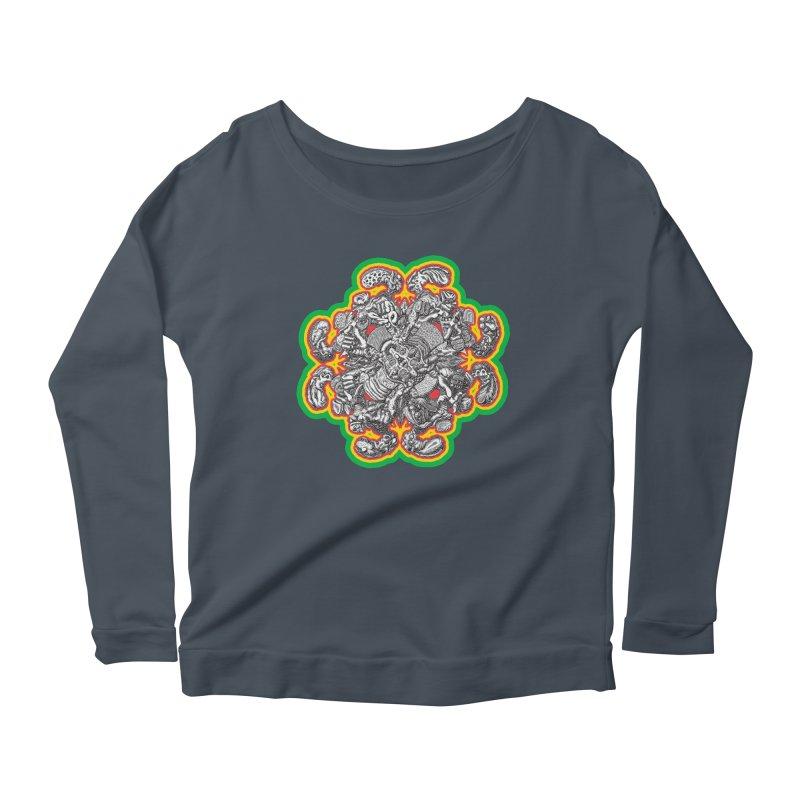 madder hatter Women's Scoop Neck Longsleeve T-Shirt by Mark Dean Veca