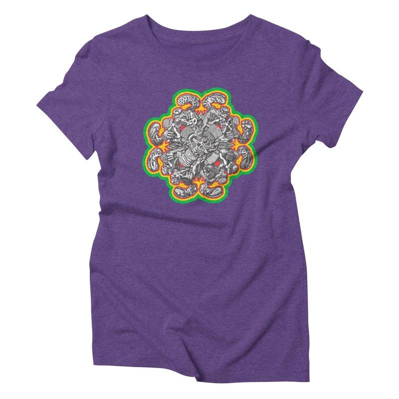 madder hatter Women's Triblend T-Shirt by Mark Dean Veca