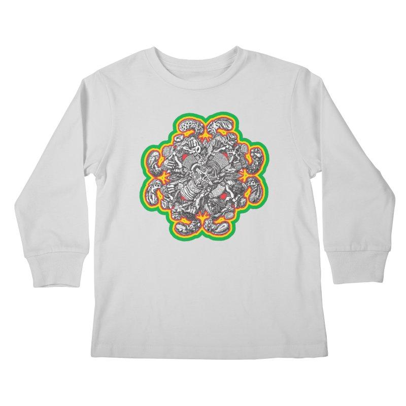 madder hatter Kids Longsleeve T-Shirt by Mark Dean Veca
