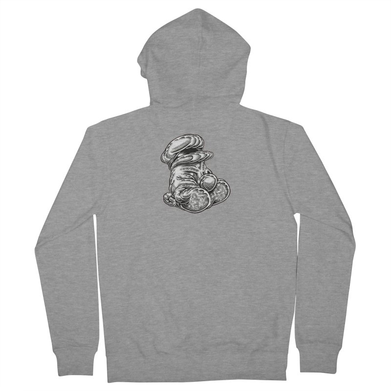 I yam. Women's French Terry Zip-Up Hoody by Mark Dean Veca