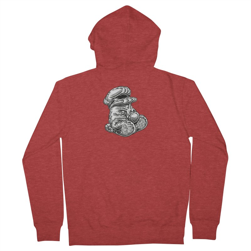 I yam. Men's French Terry Zip-Up Hoody by Mark Dean Veca