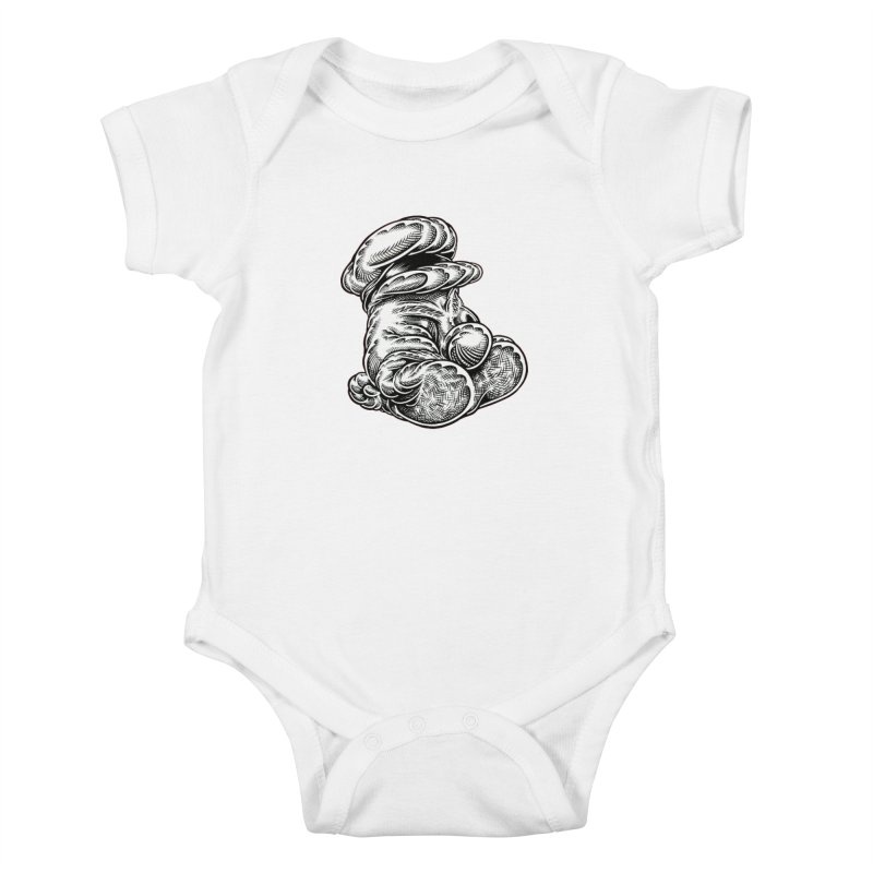 I yam. Kids Baby Bodysuit by Mark Dean Veca