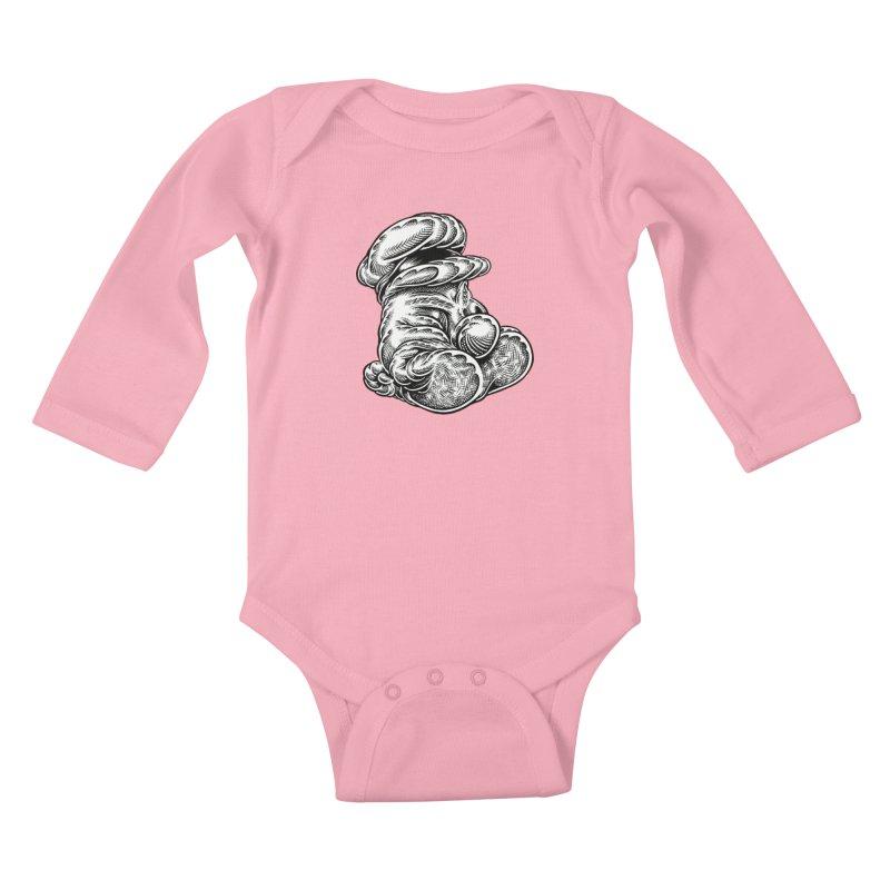 I yam. Kids Baby Longsleeve Bodysuit by Mark Dean Veca