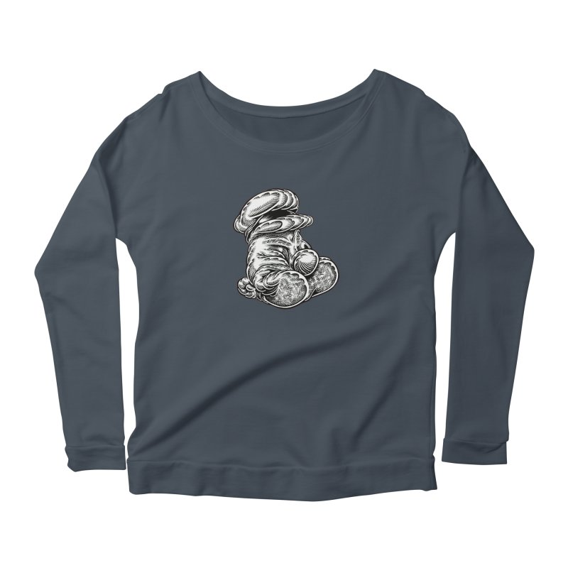I yam. Women's Scoop Neck Longsleeve T-Shirt by Mark Dean Veca