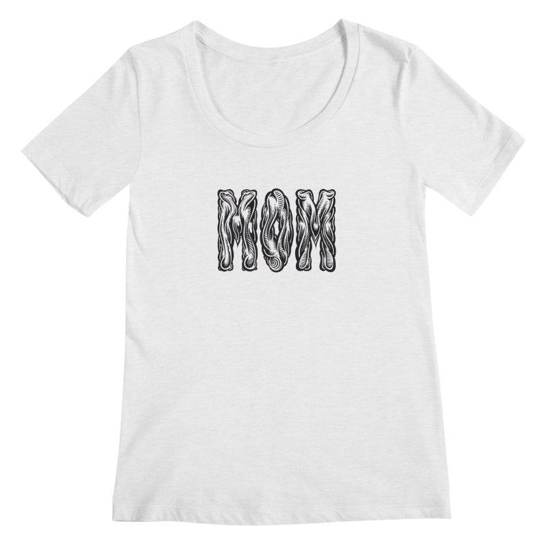 MOM Women's Regular Scoop Neck by Mark Dean Veca