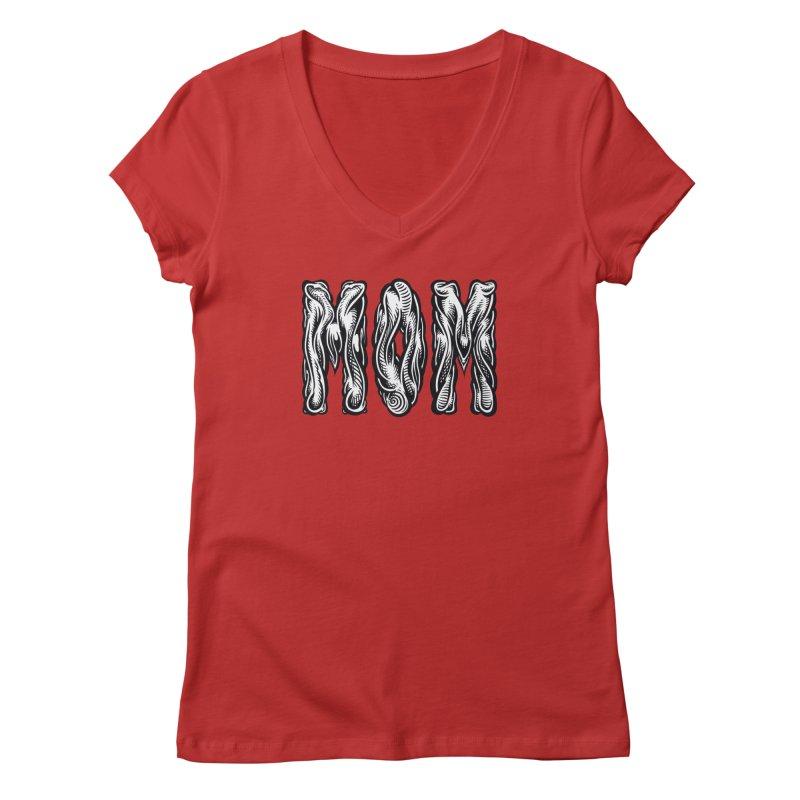 MOM Women's Regular V-Neck by Mark Dean Veca