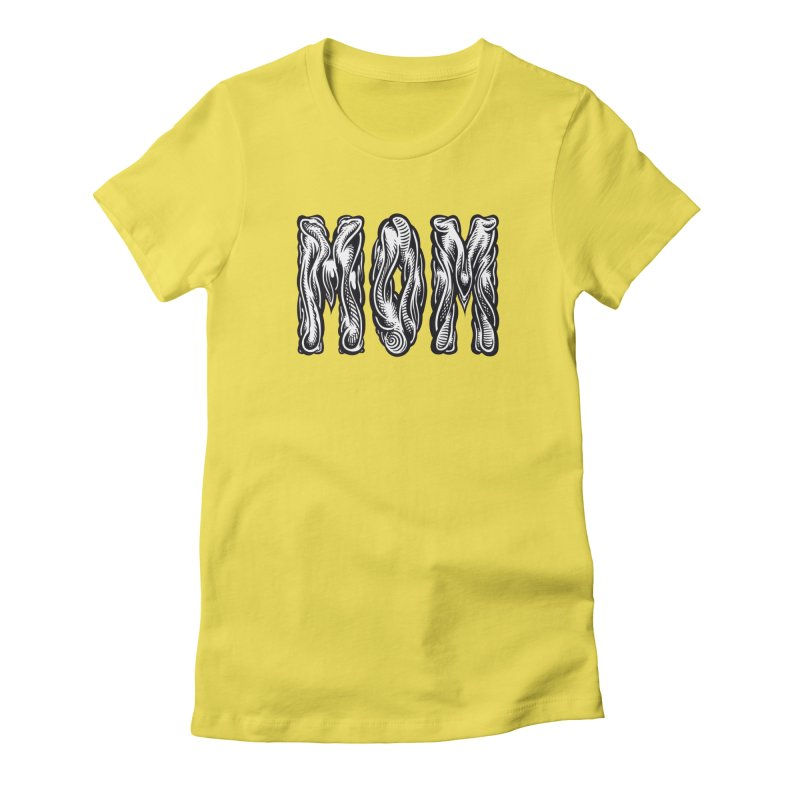 MOM Women's Fitted T-Shirt by Mark Dean Veca