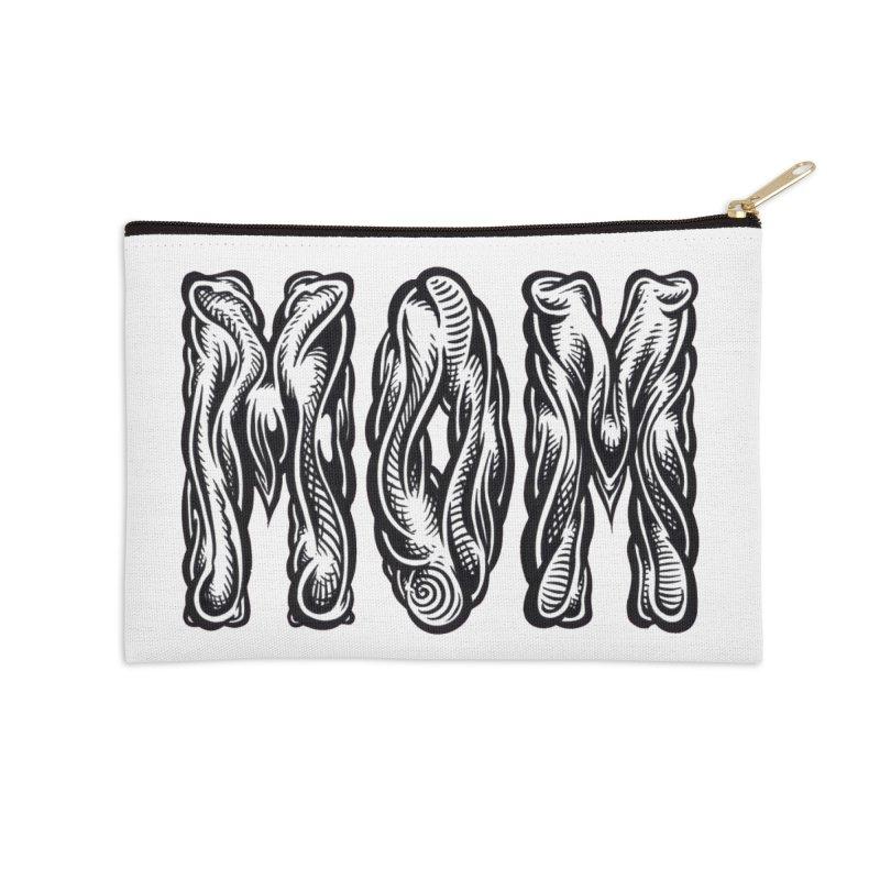MOM Accessories Zip Pouch by Mark Dean Veca
