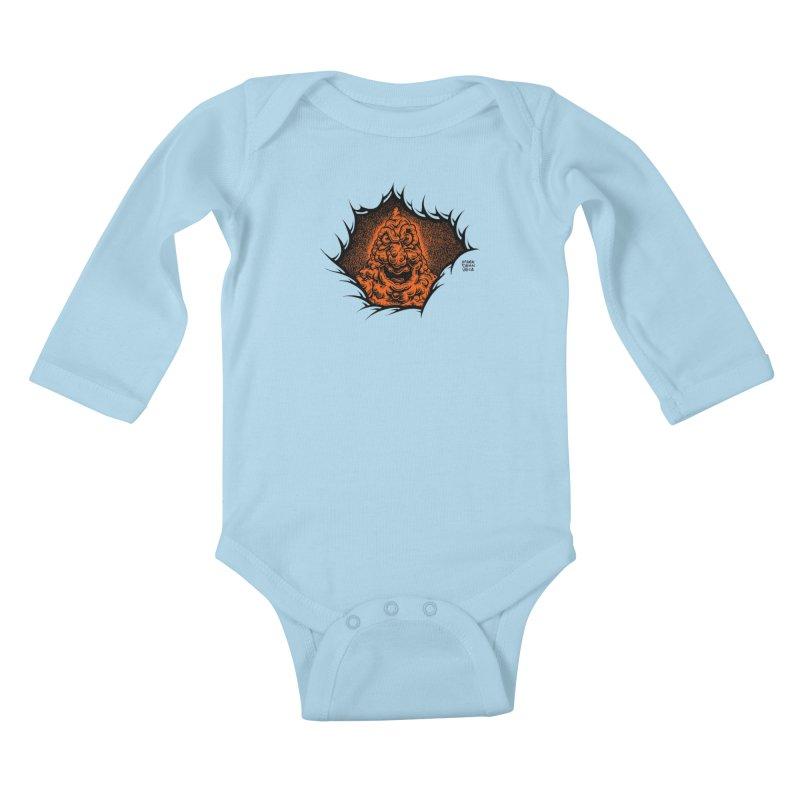 Boogeyman Kids Baby Longsleeve Bodysuit by Mark Dean Veca