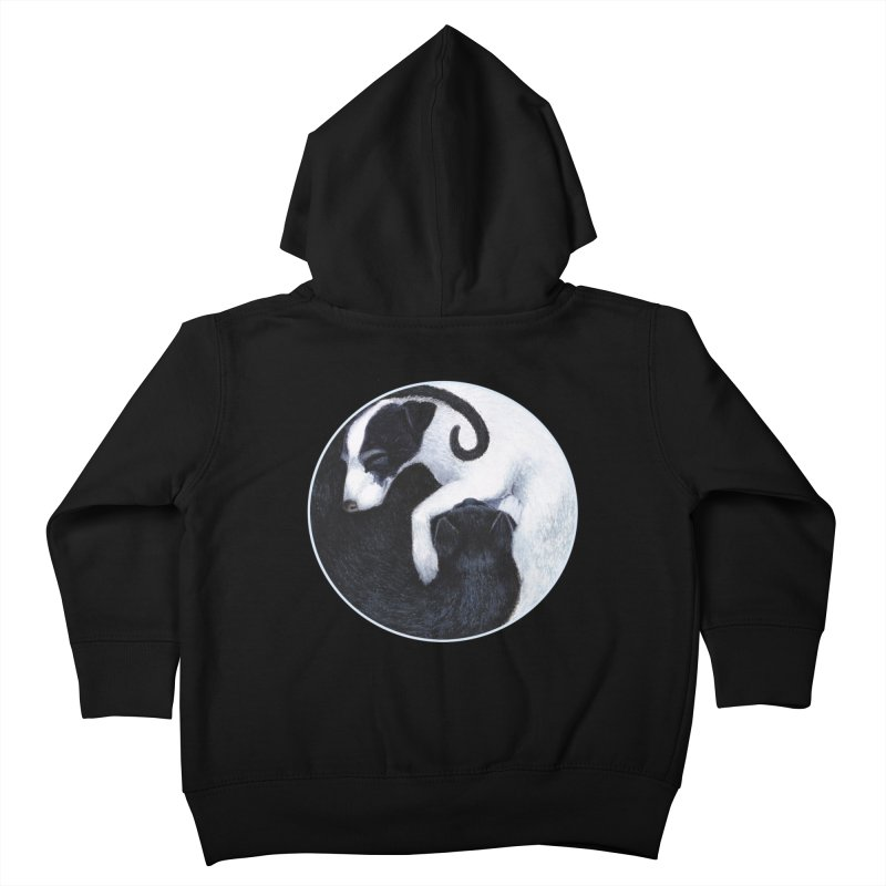 Yin Yang Cat Dog Kids Toddler Zip-Up Hoody by MarlaenaShannon's Artist Shop