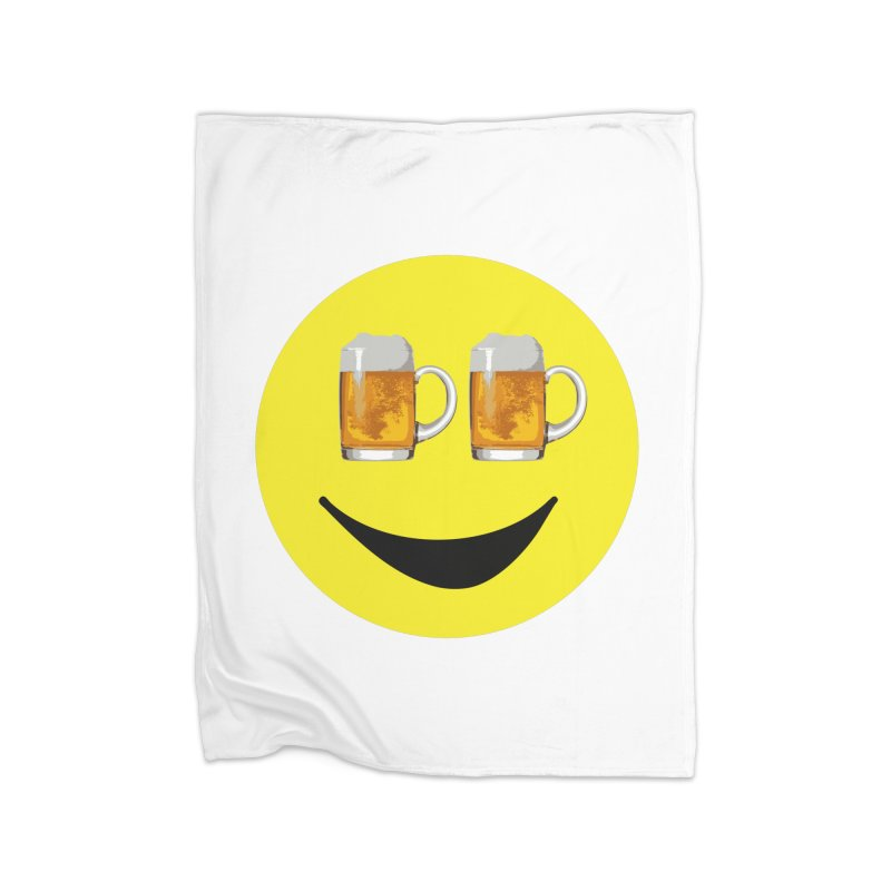 Happy Hour Face Home Blanket by MaroDek's Artist Shop