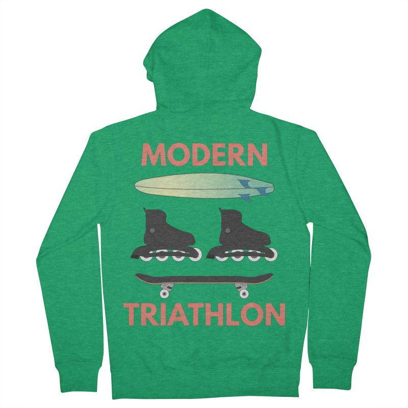 Modern Triathlon Men's Zip-Up Hoody by MaroDek's Artist Shop