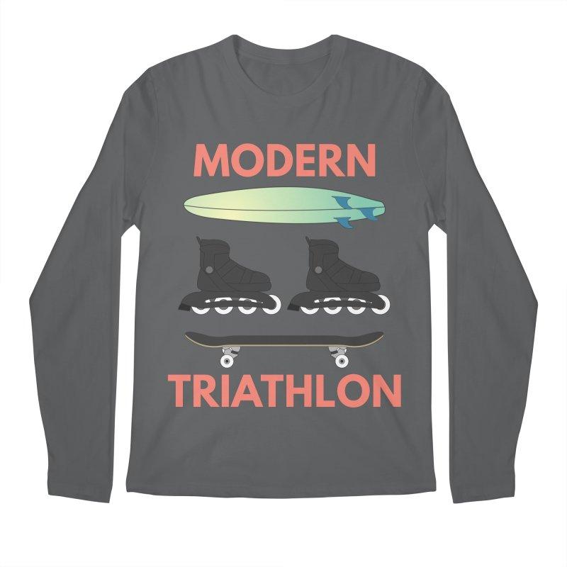 Modern Triathlon Men's Longsleeve T-Shirt by MaroDek's Artist Shop