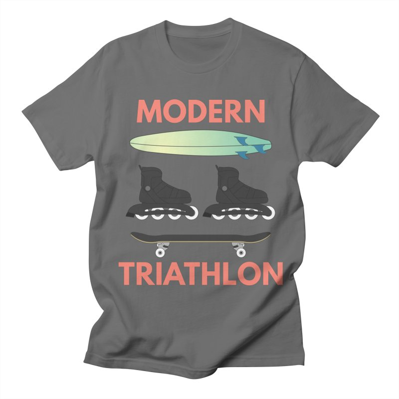 Modern Triathlon Men's T-Shirt by MaroDek's Artist Shop