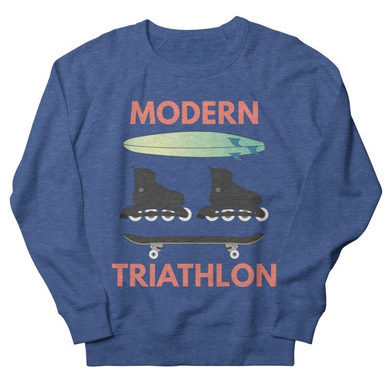 Modern Triathlon Men's Sweatshirt by MaroDek's Artist Shop