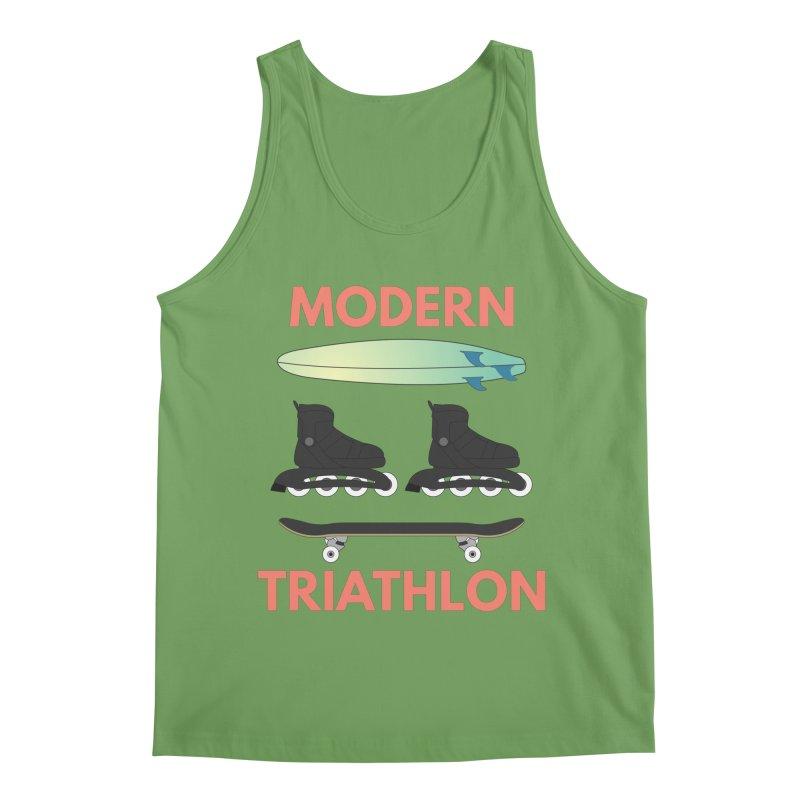 Modern Triathlon Men's Tank by MaroDek's Artist Shop