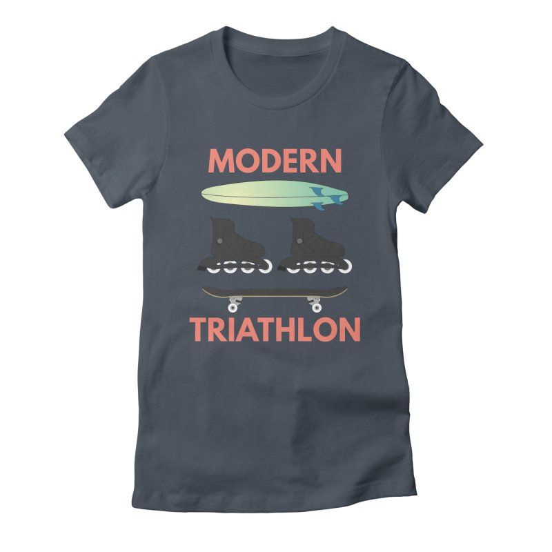 Modern Triathlon Women's T-Shirt by MaroDek's Artist Shop