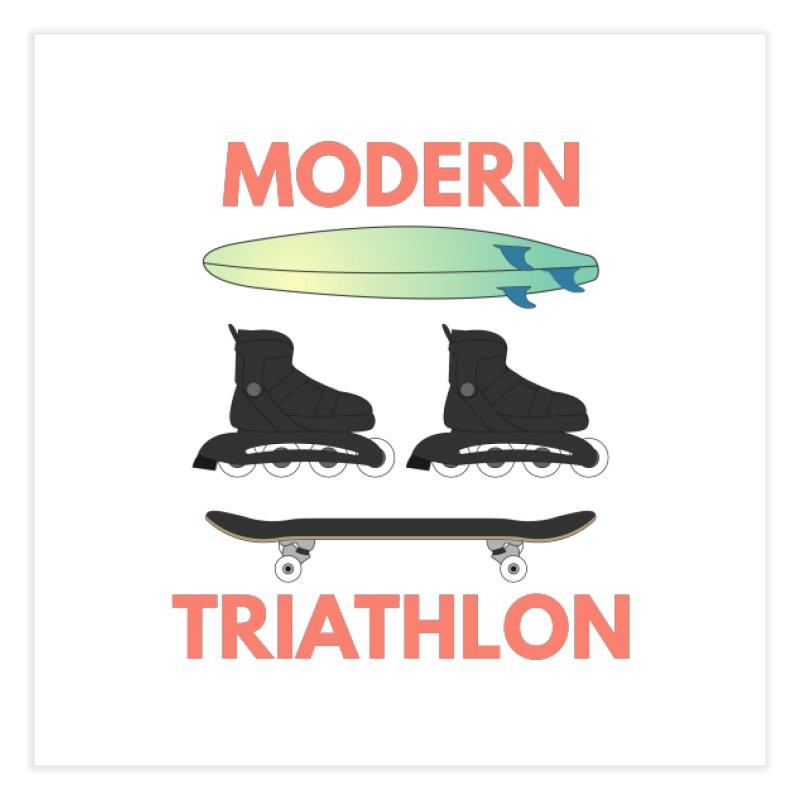 Modern Triathlon Home Fine Art Print by MaroDek's Artist Shop