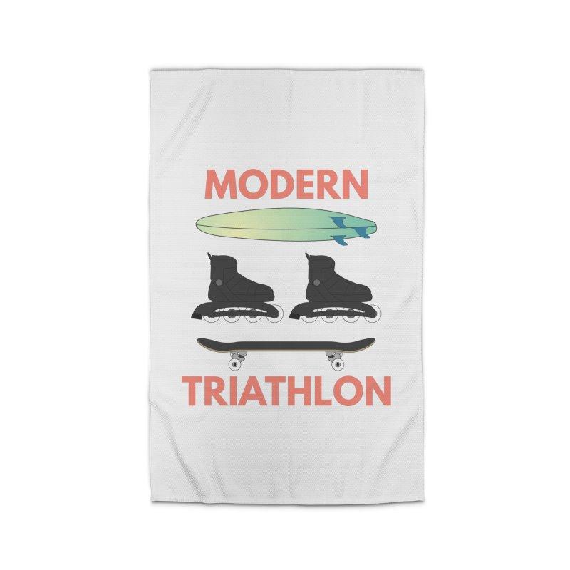 Modern Triathlon Home Rug by MaroDek's Artist Shop