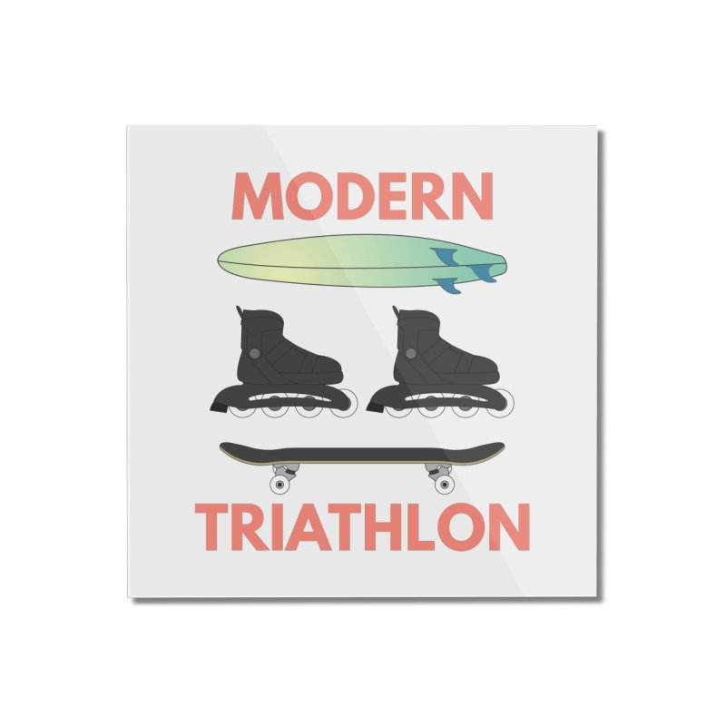 Modern Triathlon Home Mounted Acrylic Print by MaroDek's Artist Shop