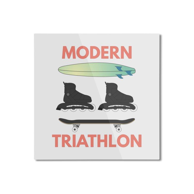 Modern Triathlon Home Mounted Aluminum Print by MaroDek's Artist Shop