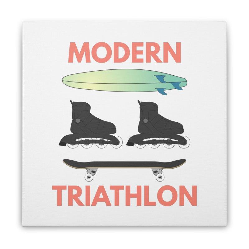 Modern Triathlon Home Stretched Canvas by MaroDek's Artist Shop