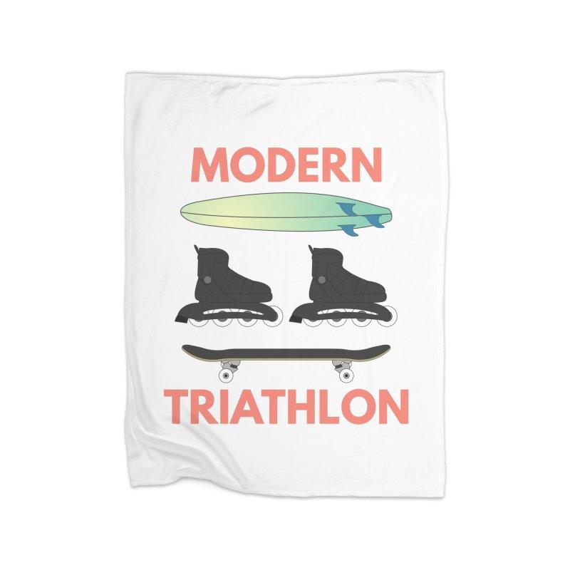 Modern Triathlon Home Blanket by MaroDek's Artist Shop
