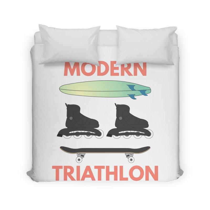 Modern Triathlon Home Duvet by MaroDek's Artist Shop