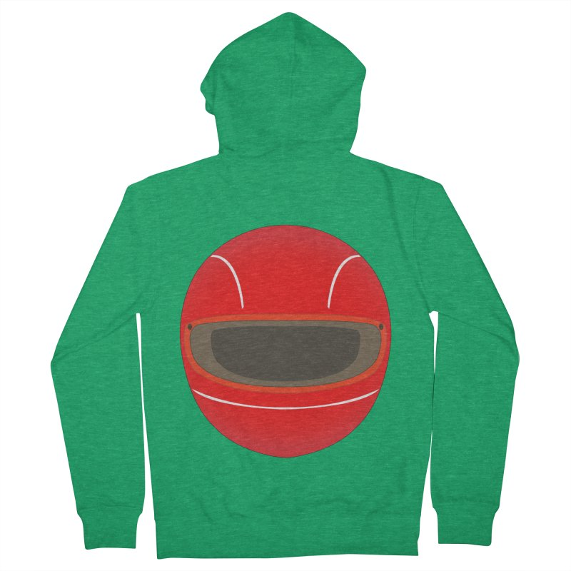 Racing Helmet Men's Zip-Up Hoody by MaroDek's Artist Shop