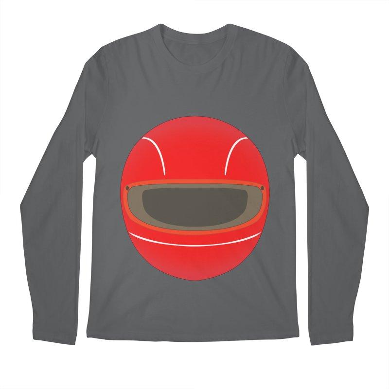 Racing Helmet Men's Longsleeve T-Shirt by MaroDek's Artist Shop