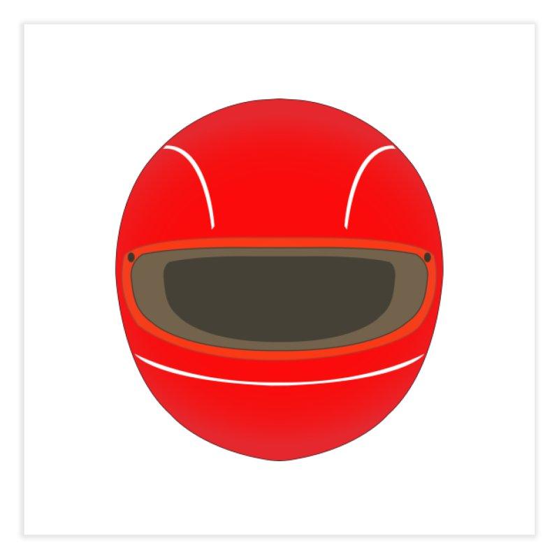 Racing Helmet Home Fine Art Print by MaroDek's Artist Shop