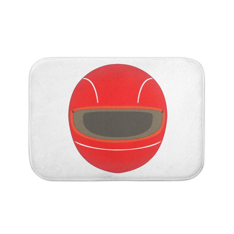 Racing Helmet Home Bath Mat by MaroDek's Artist Shop