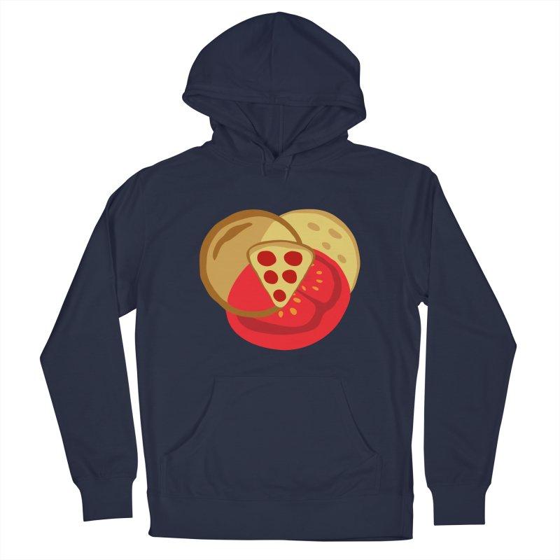Pizza Venn Diagram Men's Pullover Hoody by MaroDek's Artist Shop