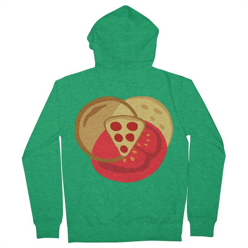 Pizza Venn Diagram Men's Zip-Up Hoody by MaroDek's Artist Shop