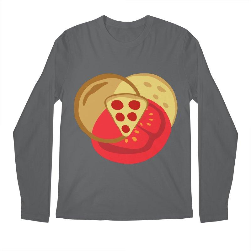 Pizza Venn Diagram Men's Longsleeve T-Shirt by MaroDek's Artist Shop