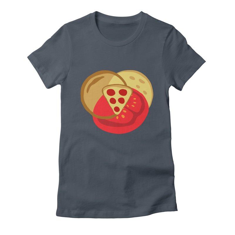 Pizza Venn Diagram Women's T-Shirt by MaroDek's Artist Shop
