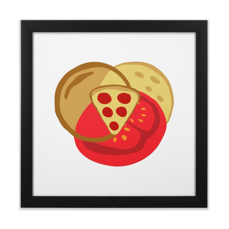 Pizza Venn Diagram Home Framed Fine Art Print by MaroDek's Artist Shop