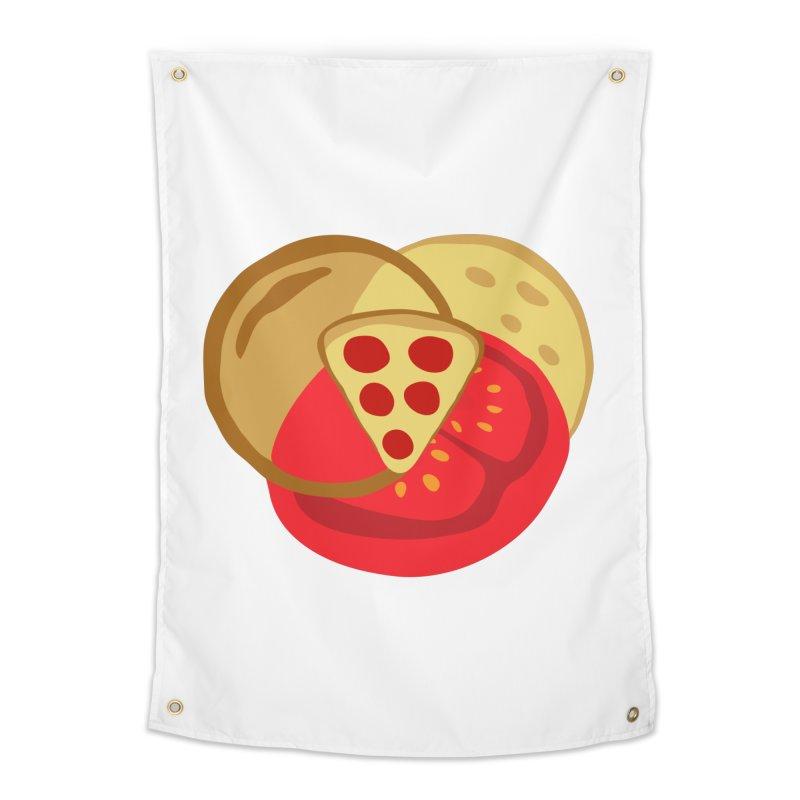 Pizza Venn Diagram Home Tapestry by MaroDek's Artist Shop