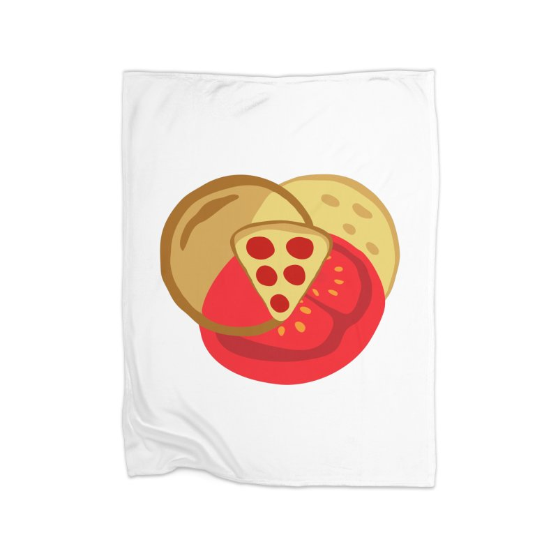 Pizza Venn Diagram Home Blanket by MaroDek's Artist Shop