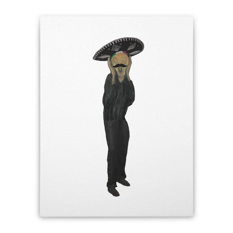 El Grito Home Stretched Canvas by MaroDek's Artist Shop