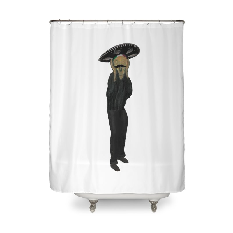El Grito Home Shower Curtain by MaroDek's Artist Shop