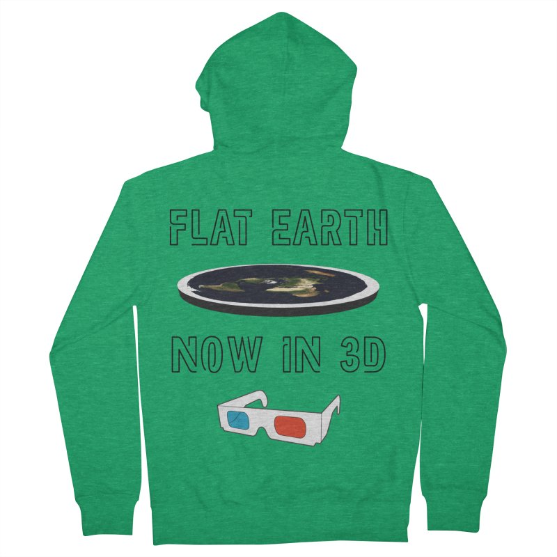 Flat Earth Now In 3D Men's Zip-Up Hoody by MaroDek's Artist Shop