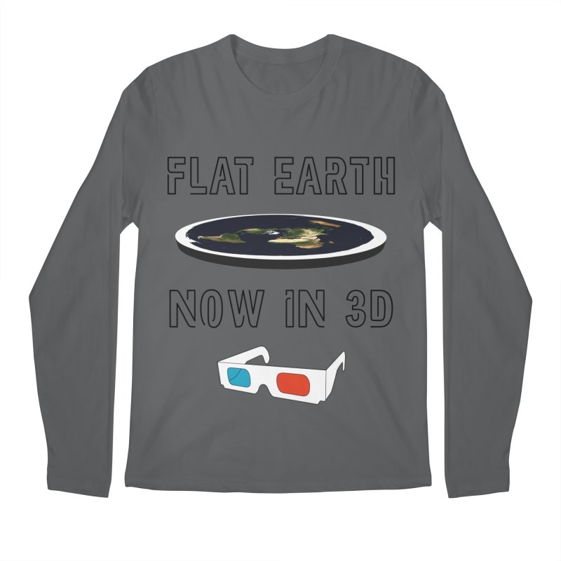 Flat Earth Now In 3D Men's Longsleeve T-Shirt by MaroDek's Artist Shop
