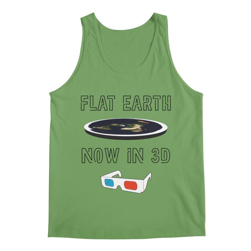 Flat Earth Now In 3D Men's Tank by MaroDek's Artist Shop