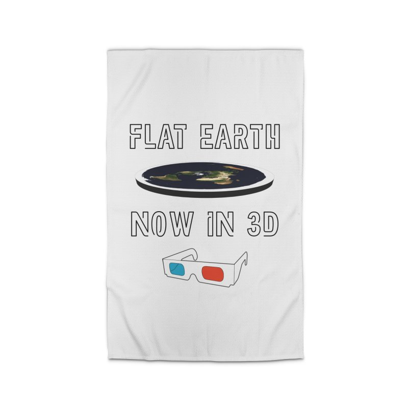Flat Earth Now In 3D Home Rug by MaroDek's Artist Shop